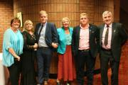 Event organisers (from left) Janey Cotton, Lyny Wood-Cole, George Wood-Cole, Eira Pugh, Tommy Wood-Cole and Ian Pugh