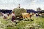Haymaking in the river meadows of yesteryear
