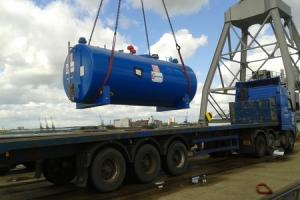Giant Ledbury-made fuel tank is on its way to the South Atlantic