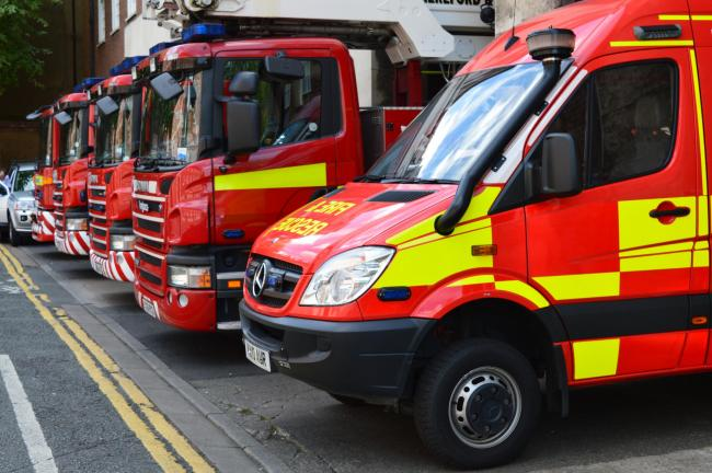 Fire crews from Hereford attended