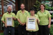Some of the award winning plant area team; Tiny Harding, David Sherwood, Kate Dewan and Lucy Huck