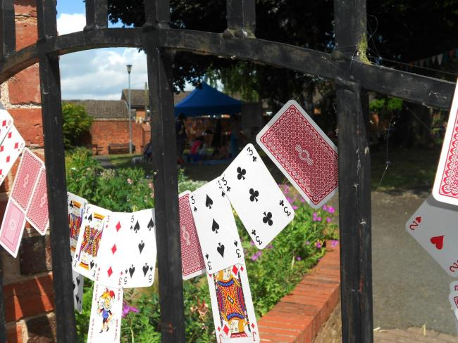 The gate to Wonderland at Ledbury Poetry Festival