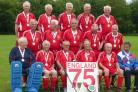 The victorious England Over-75 team