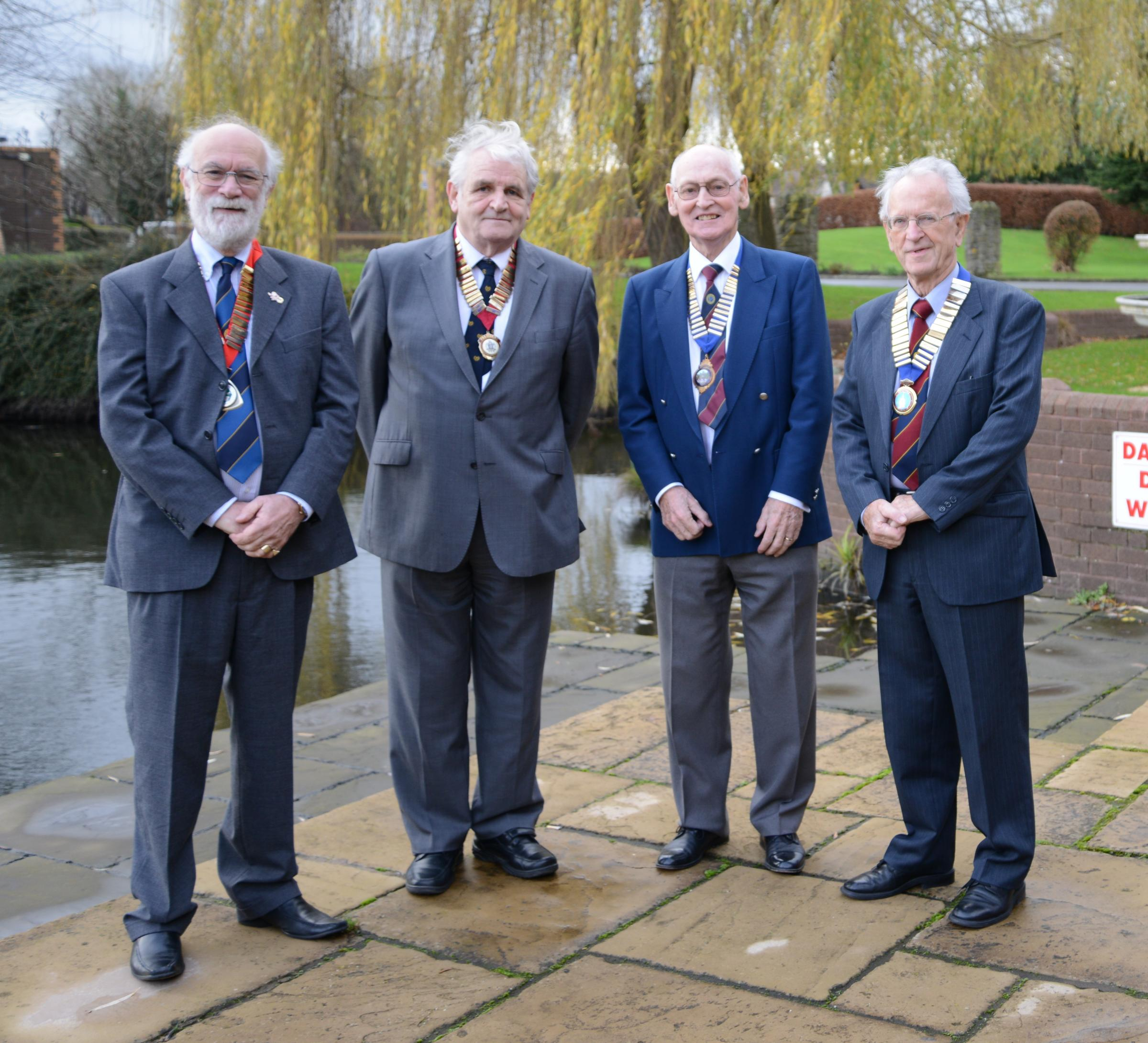 From left to right: Jeff Jones (St Ethelbert Probus Club), Les Birch (City of Hereford Probus Club), Clive Walters (Hereford Probus 3 Club), Colin Holmes (Hereford Probus 4 Club). Photo taken by Mike Steadman