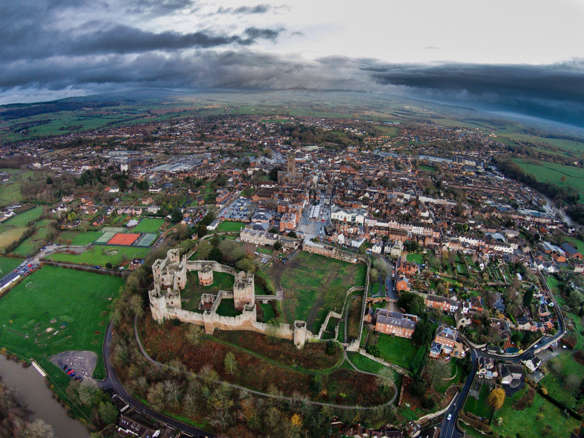Ludlow from the air. Photo: Nick Wall