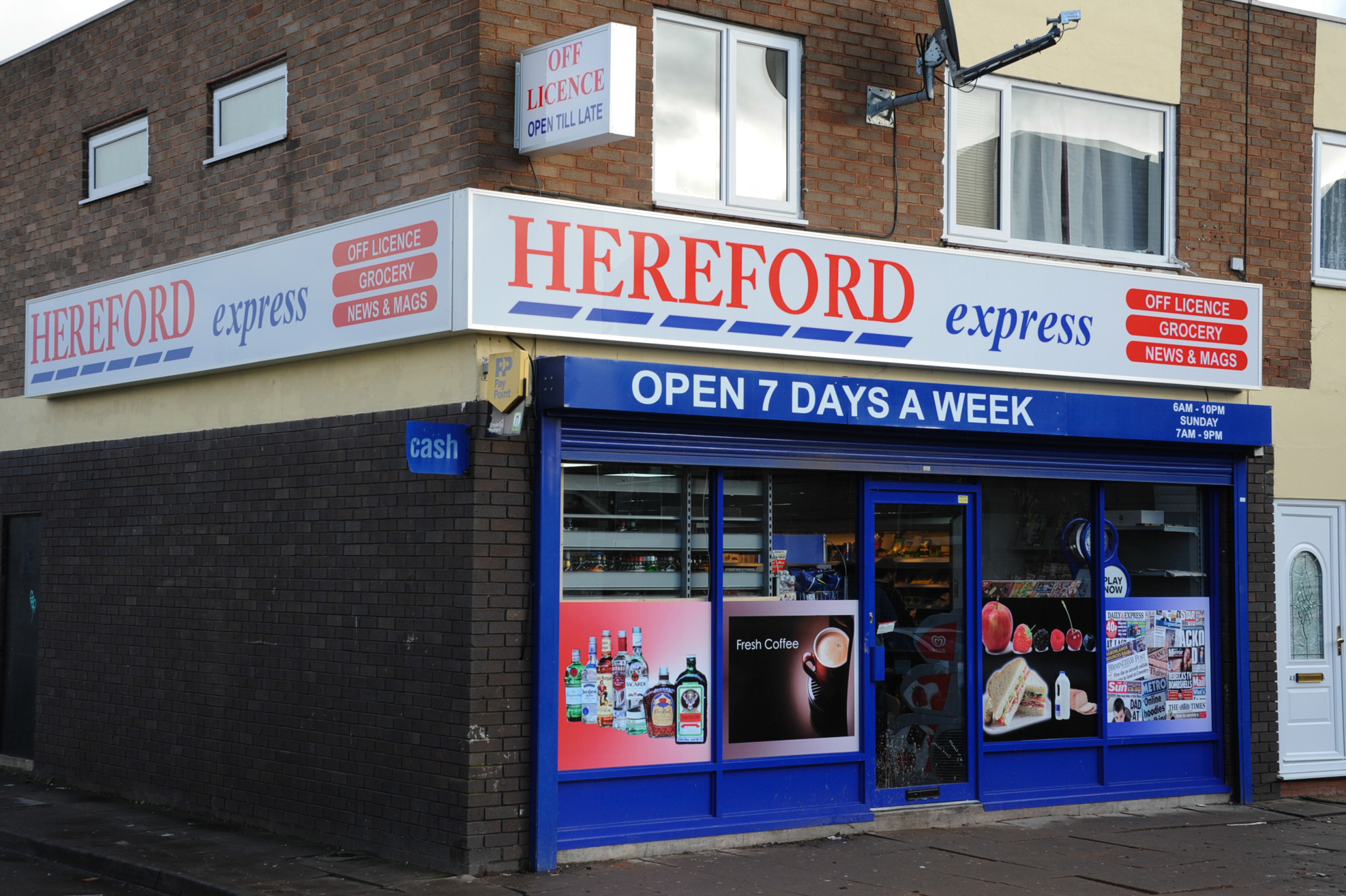 The Hereford Express store on Folly Lane in Tupsley
