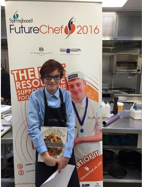 Liberty Wells who took a step towards the national final of the Futurechef cooking competition
