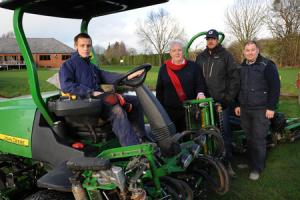 Robert Owen Academy students learn technical skills at Leominster Golf Club