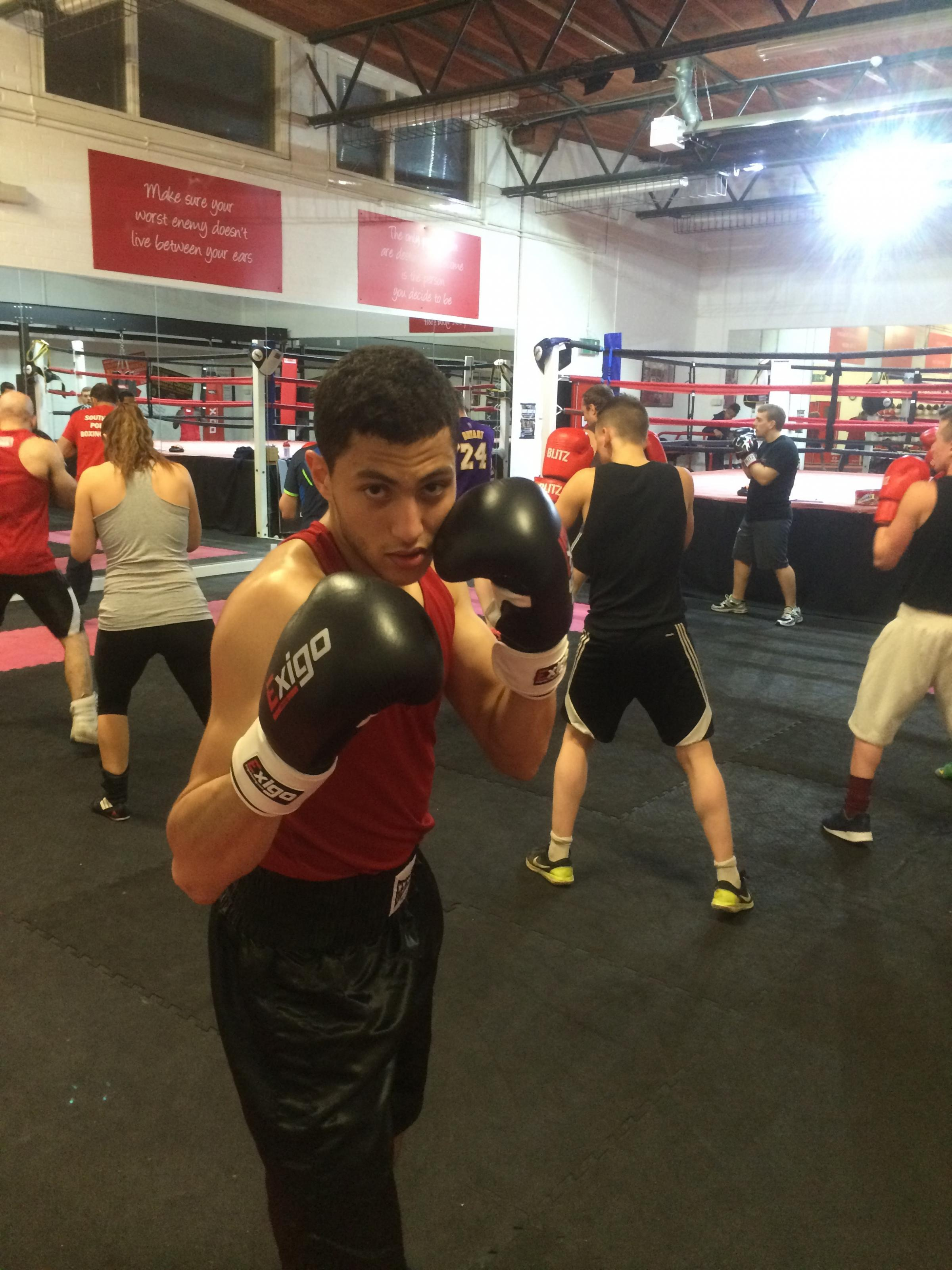 Yusuf Abdallah will be competing on South Wye Boxing Academy's show at Hereford Sixth Form Centre this Saturday