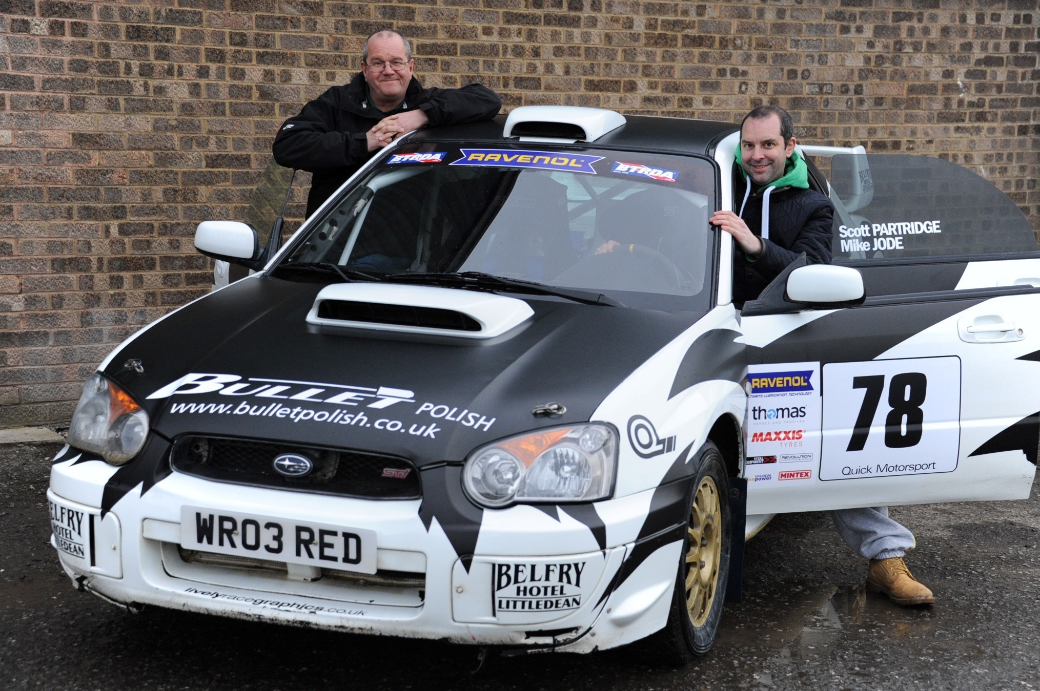 Scott Partridge (right) and Mike Jode finished 37th overall in the opening race of the BTRDA British Rally Championship