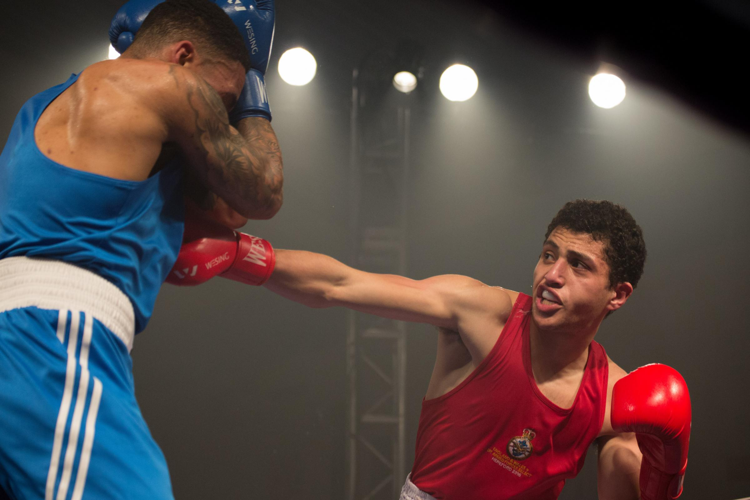 Yusuf Abdallah fighting at last year's show