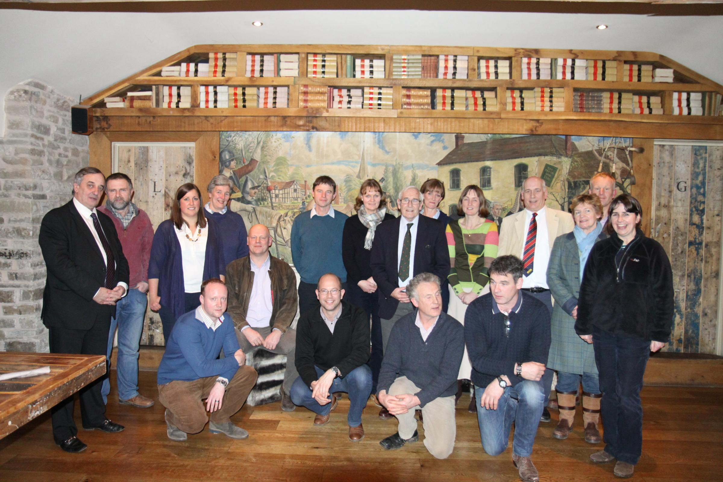 Herefordshire Nuffield Scholars who enjoyed a talk by NFU President, Meurig Raymond