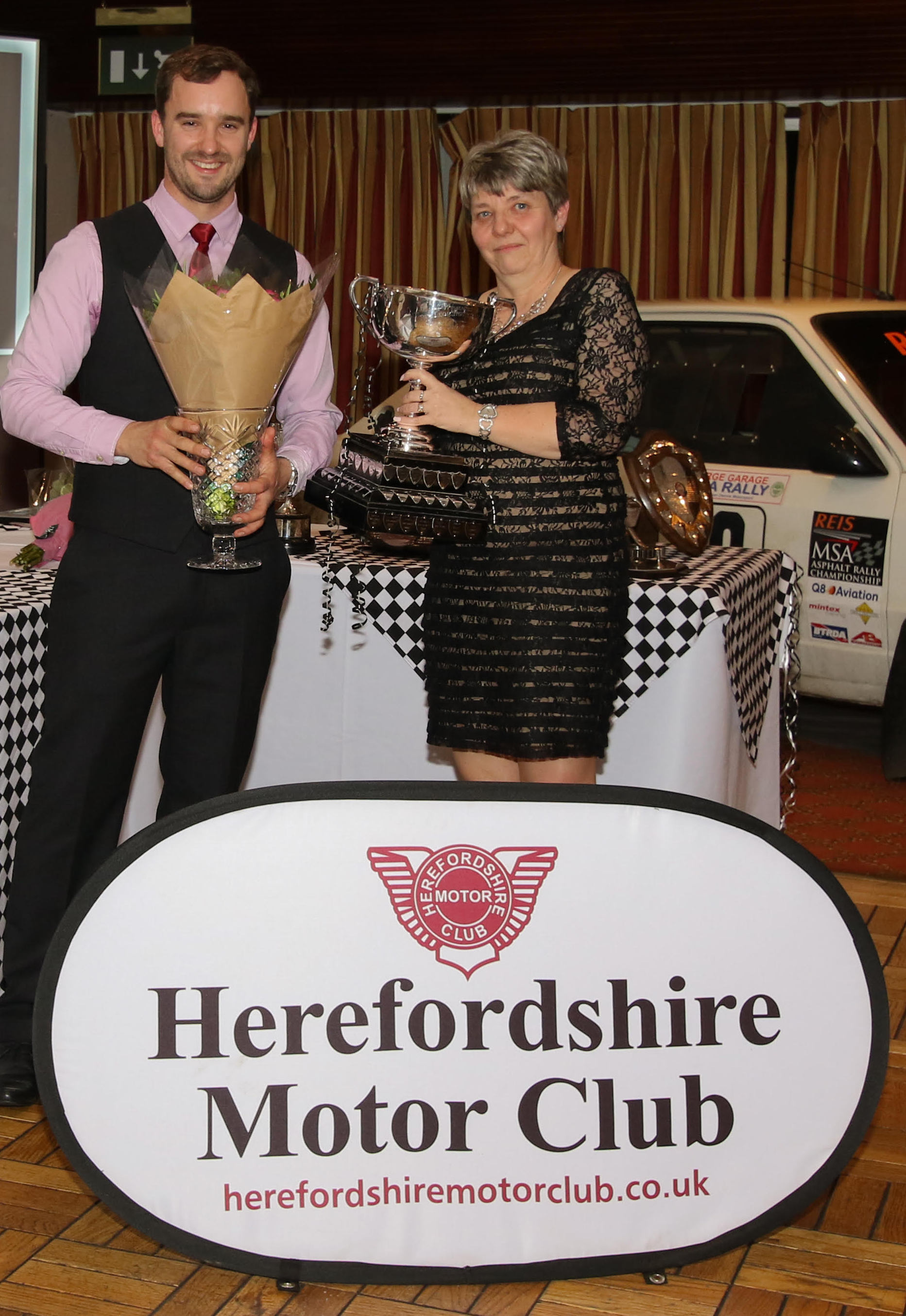 Caroline Wilks, seen here being presented with the Leominster MC&CC Challenge Trophy last year, was again named best overall club member