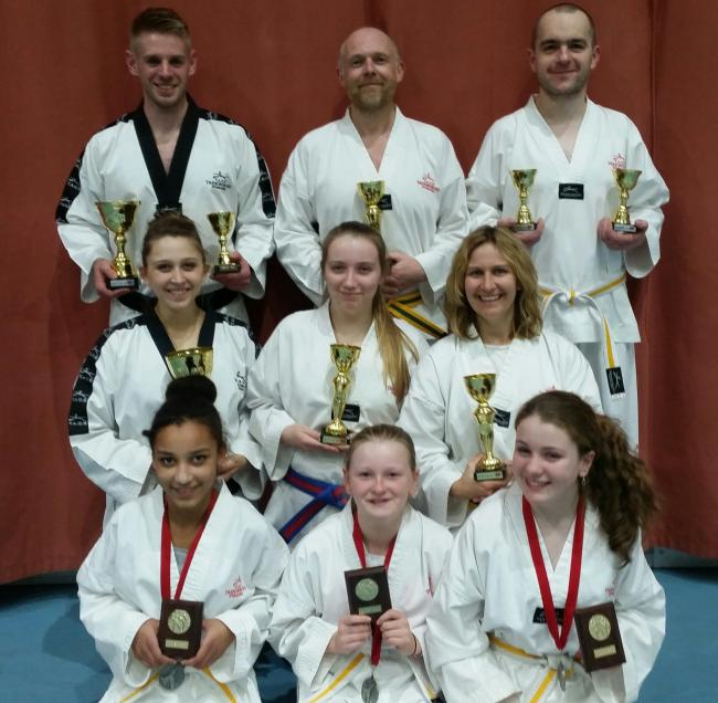 The Hereford Tae Kwon students who competed in Newport