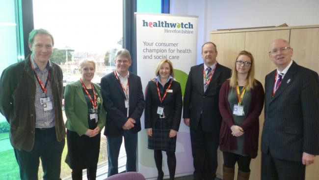 From left: Dr Simon Lenanne, Jade Brooks, Richard Kelly, Dr Jane Melton, Dr Chris Fear, Emma Paver and Paul Deneen.