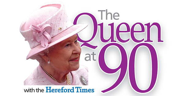 Hereford Times: The Queen at 90 with the Hereford Times