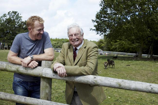 A new bursary has been launched in memory of Joe Henson, right, pictured with his son, Adam Henson