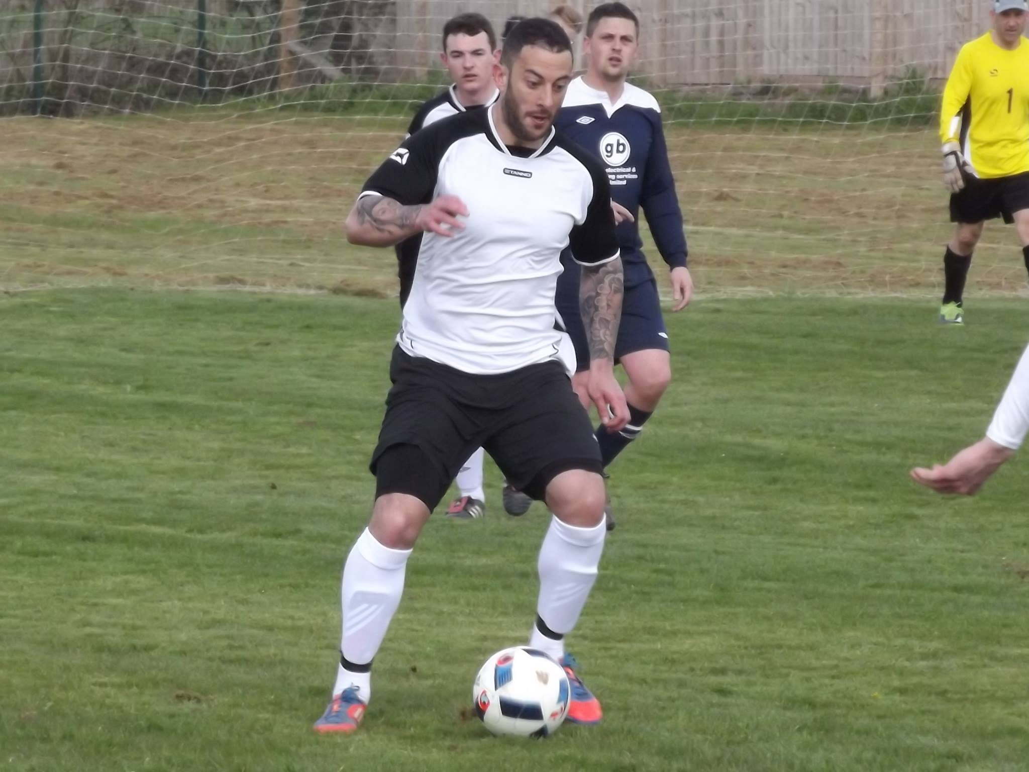 Stuart Fleetwood playing for Rosey Athletic against Stagecoach. Photo: Darren Coates