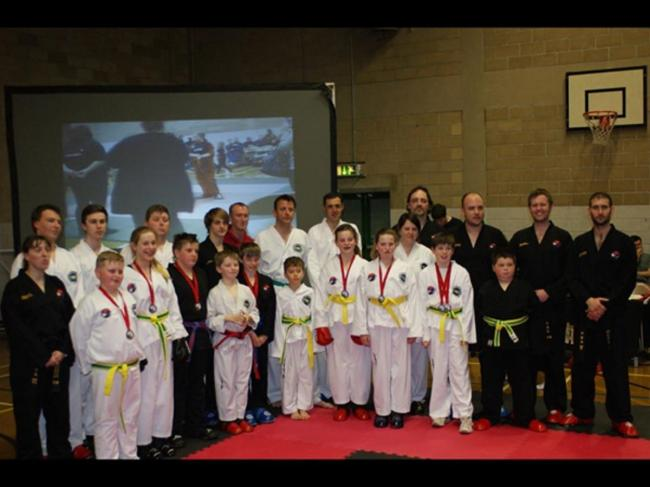 The Hall Family Taekwondo students who competed at the Welsh Verve Open
