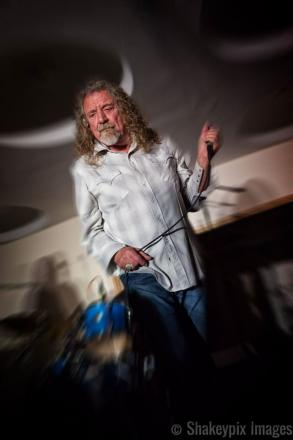 Robert Plant performing at the Left Bank, Hereford. Photo: Richard Shakespeare.