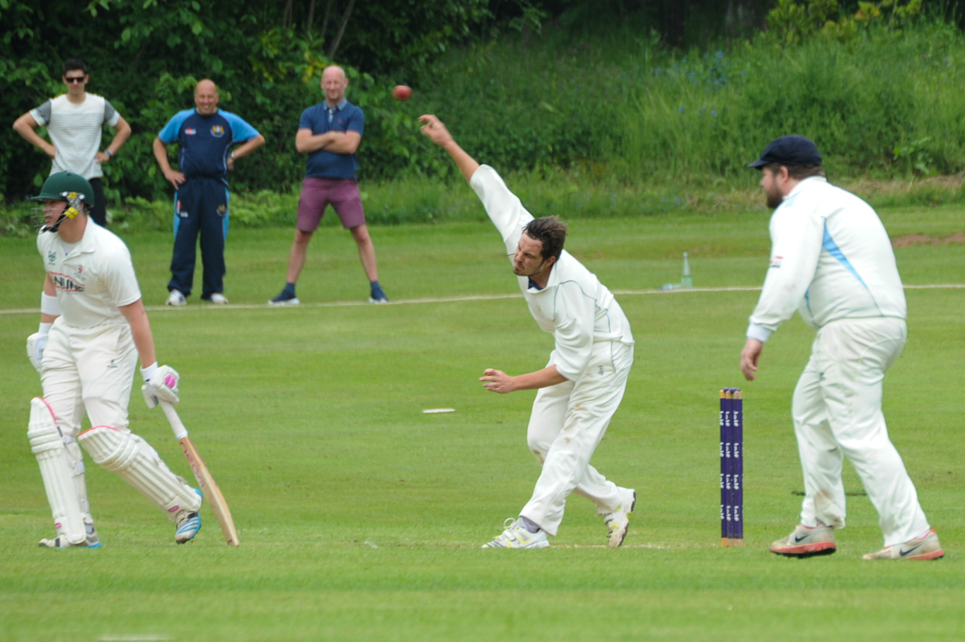 Brockhampton skipper Nick Powell led the way with the bat and ball for his side