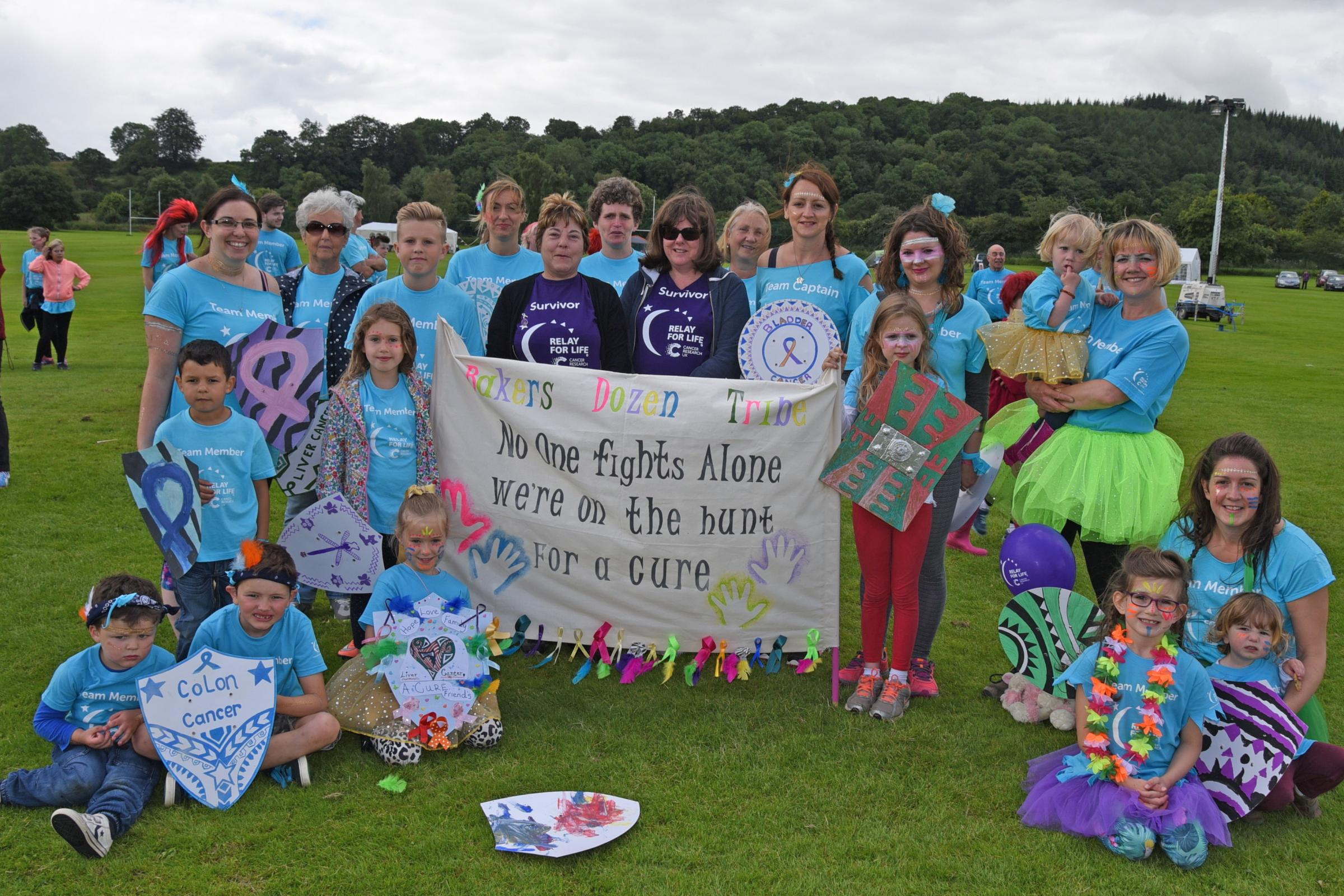 Relay for Life in Presteigne - an exhausting success (From Hereford Times)