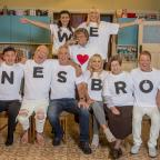 Hereford Times: Mrs Brown's Boys copies Tom Hiddleston T-shirt move to mark first live show