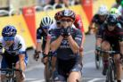 Wiggle High5's Chloe Hosking crosses the finish line to win La Course by Le Tour in Paris