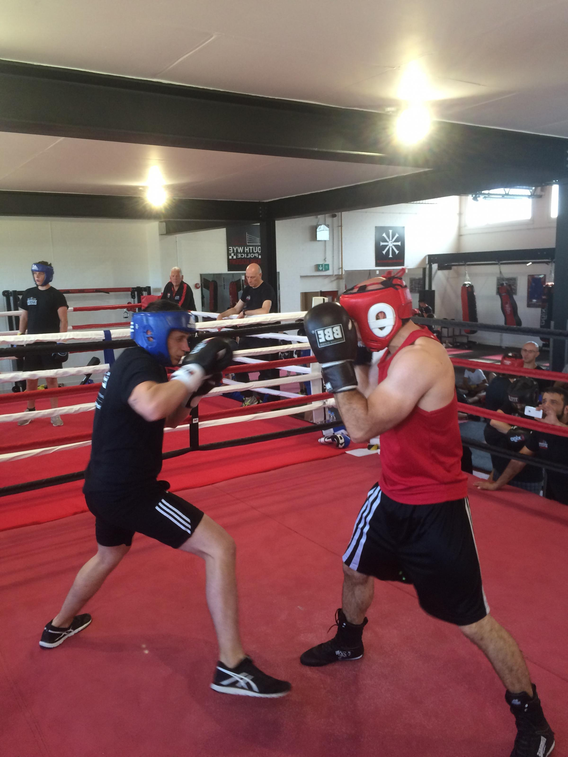 Joe Plant (left) and Jez Jones from South Wye Police Boxing Academy..