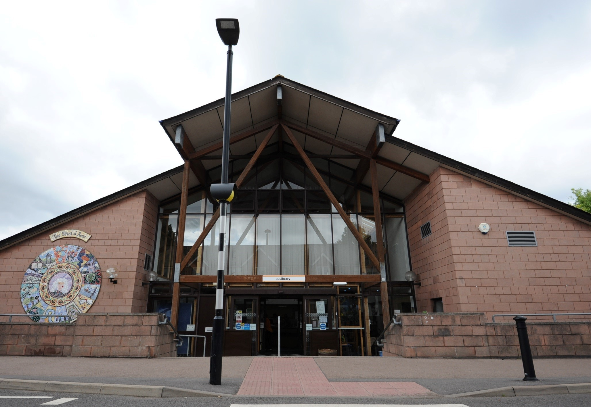 Ross-on-Wye library, where residents can book CAB appointments on alternate Mondays
