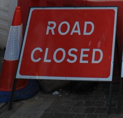 The A49 is closed near Leominster