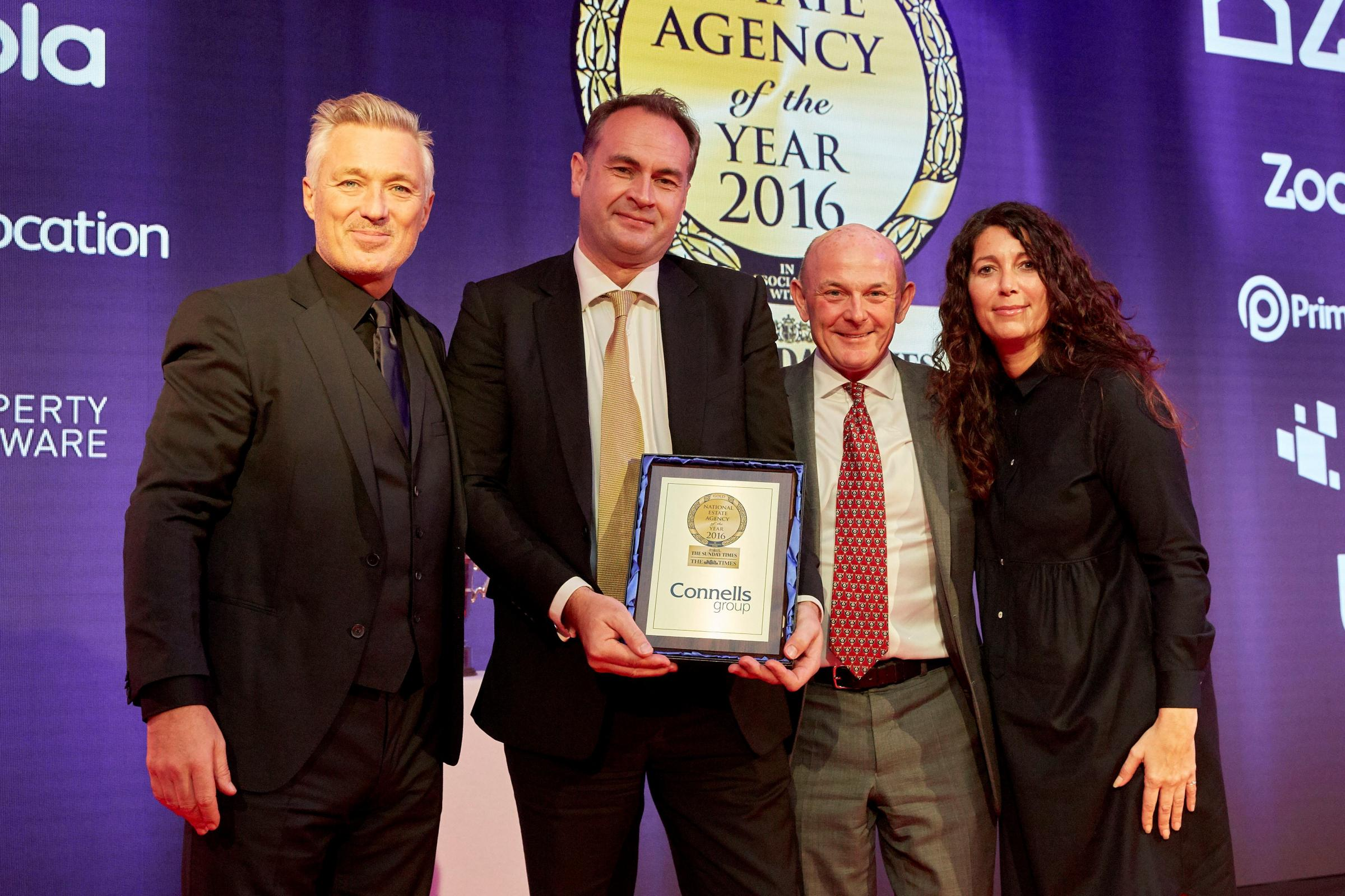 AWARDS: Martin Kemp, Spandau Ballet, David Plumtree and Stephen Shipperley of Connells and Athena Hubble of sponsors ZPG