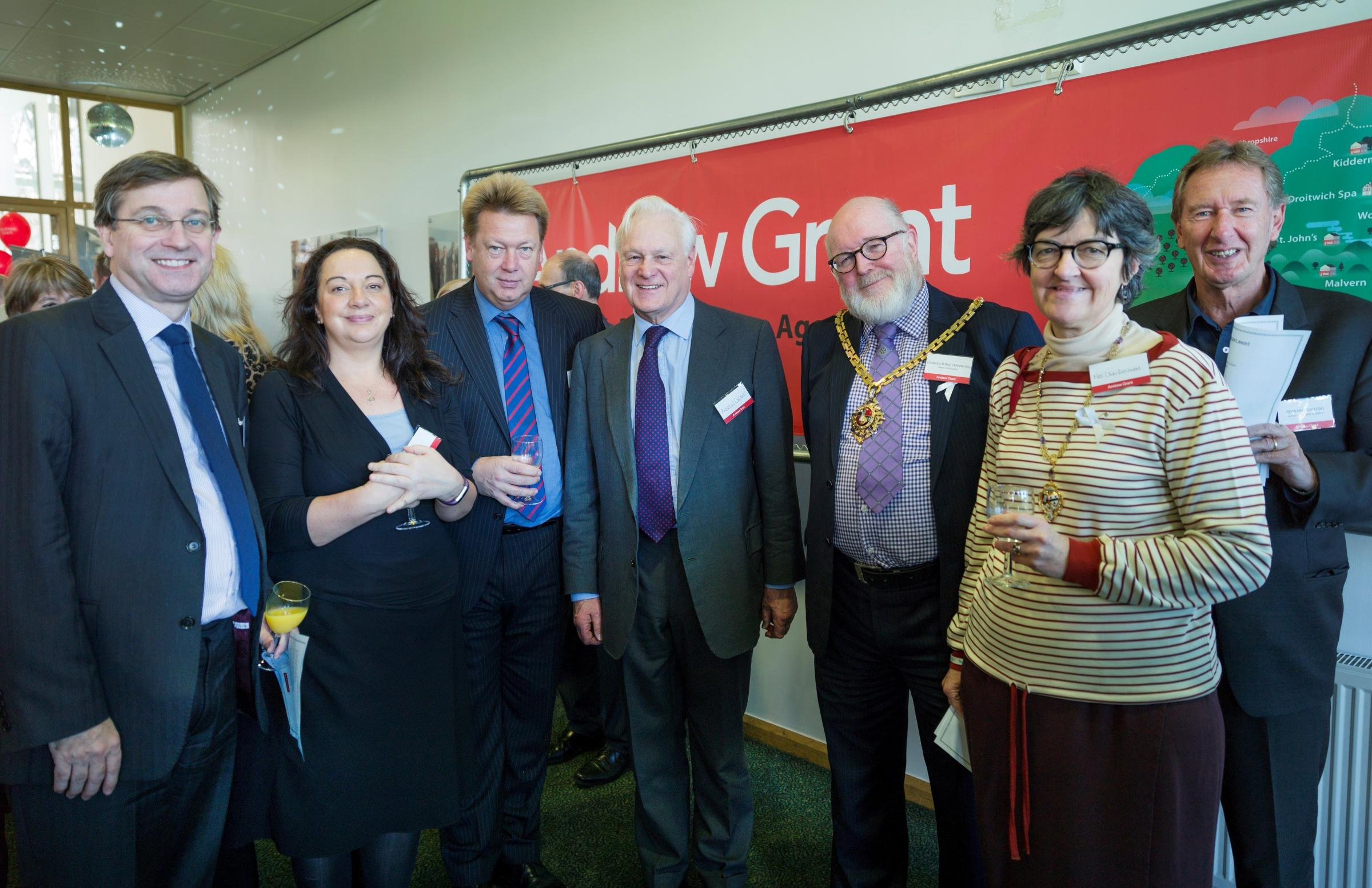 Andrew Grant and some of the guests at his Christmas Reception