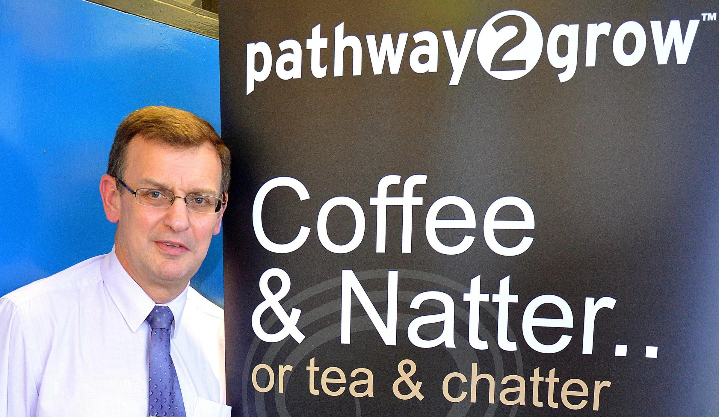 FOUNDER: Mike Gardner, founder of Coffee and Natter Business Group