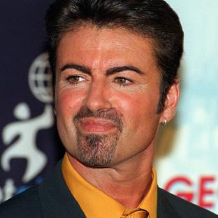 George Michael during a press conference in London, as the pop superstar has died peacefully at home, his publicist said.