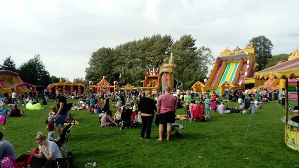 The Inflatable Theme Park will have Hereford youngsters jumping for joy later this year. Picture by Inflatable Theme Park.
