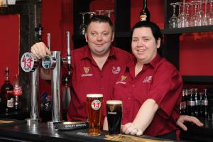 New Landlords at the Grapes pub in Hereford - Gary & Sonia Caldwell..