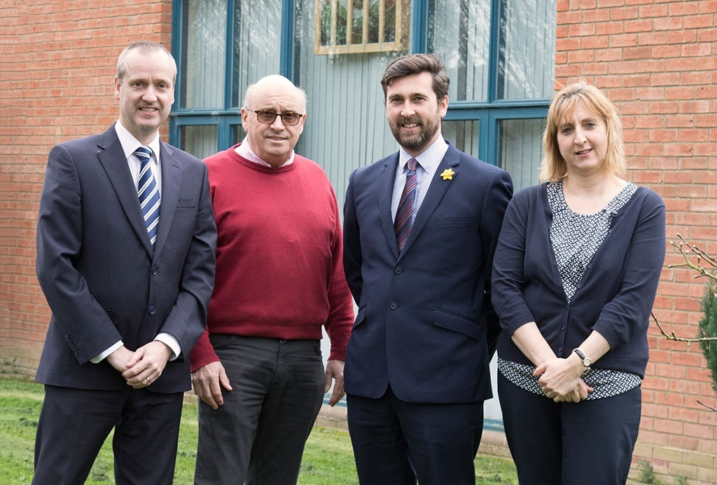 From left to right: Stephen Warrell (Head of Primary School), Paul Avery (Chair of Governors), Dean Williams (Executive Headteacher), Julia Hall (Vice-Chair of Governors).