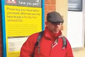 Samir Rignall was filmed outside Hereford Railway Station by members of H-Division
