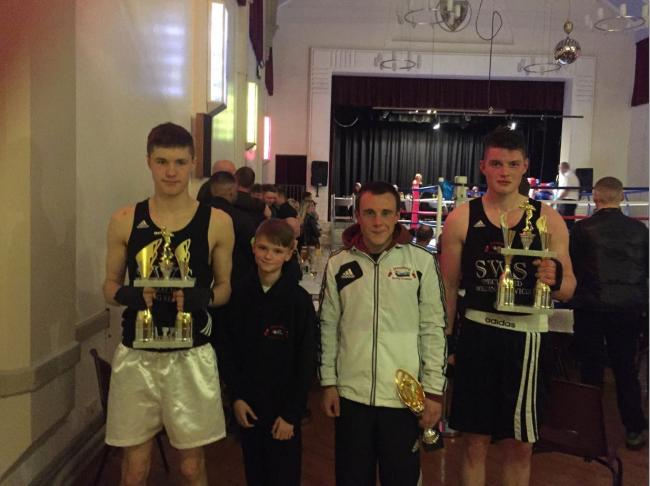 Hereford Boxing Academy fighters (l-r) Jake Price, Zak Price,Tom Beech and Edward Kretchman
