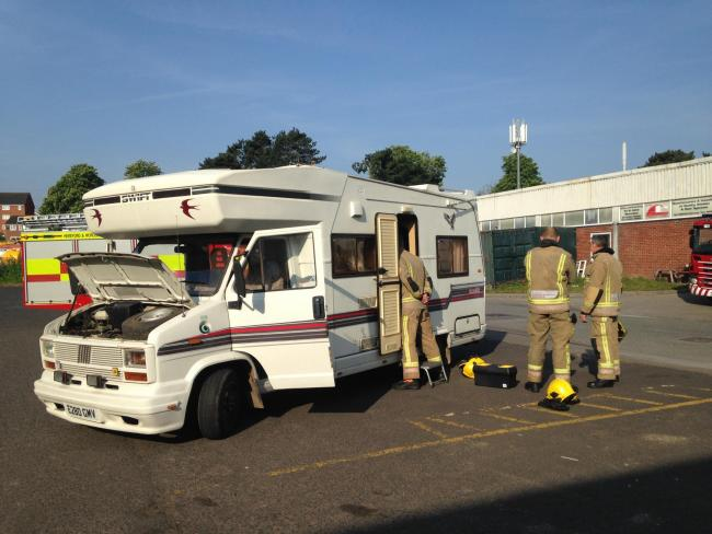 VIDEO: Small electrical fire in camper van