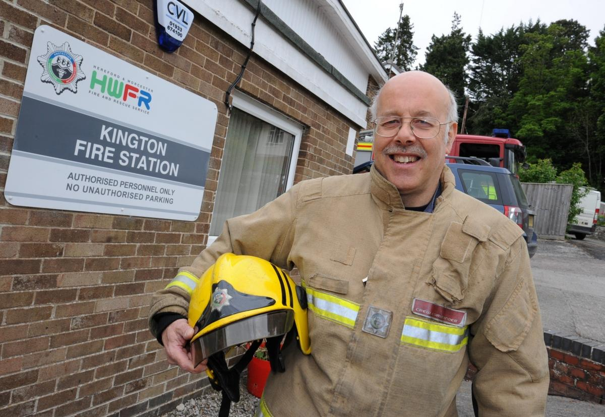 Gary Barnett celebrates 40 years as retained firefighter in Kington