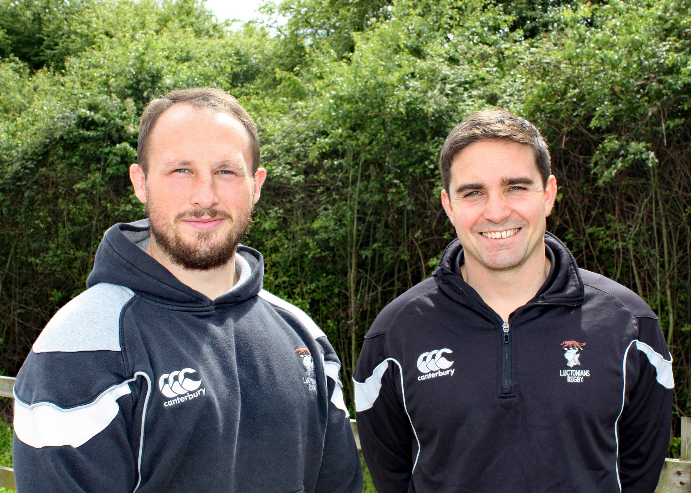 New Luctonians coaches Mike Hill and Ryan Watkins
