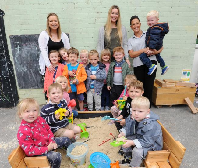 Njoying The New Sand Pit Are Carly Fensome Little Gems Manager Kelly Younge And