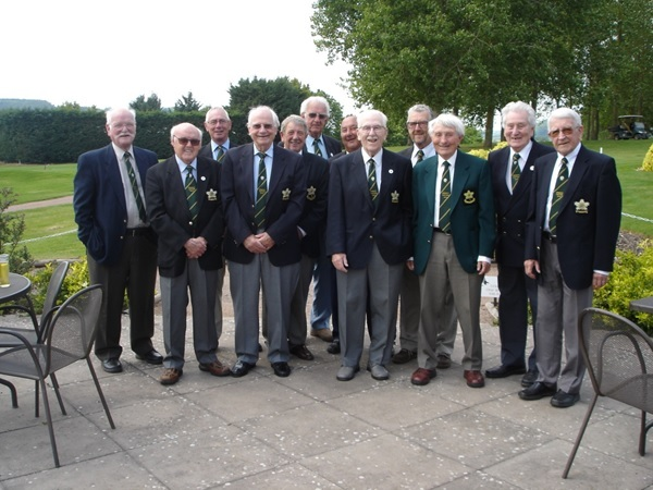 The Burghill Valley Golf Club past and current senior captains enjoying a reunion