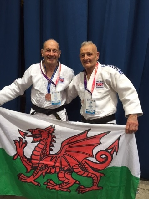 Stan Cantrill (left) with fellow Wales fighter Allen Jones MBE