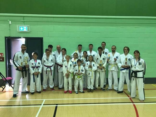 The Hall Family Taekwondo members who competed at Perdiswell