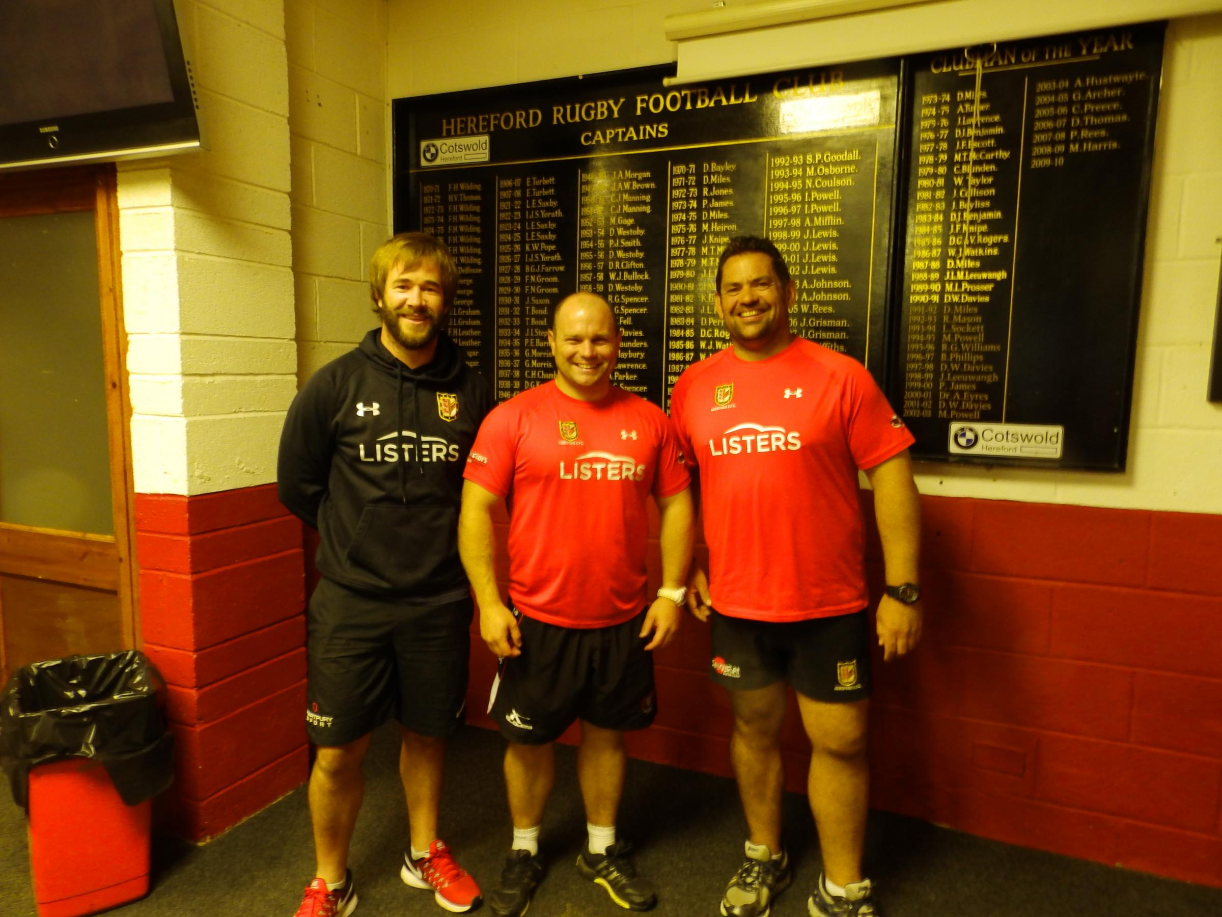 From left: Assistant coach Luke Fisher, head coach Sean Lynn and development team coach Dave Thomas
