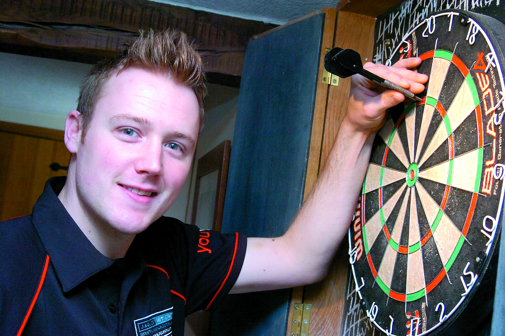 Jim Williams - darts-playing carpenter playing on the BDO professional darts scene. Presteigne...133706-3.