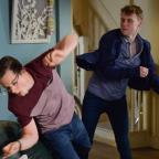 Hereford Times: EastEnders' Jay Brown and Ben Mitchell to lock fists in explosive fight (Kieron McCarron/BBC)
